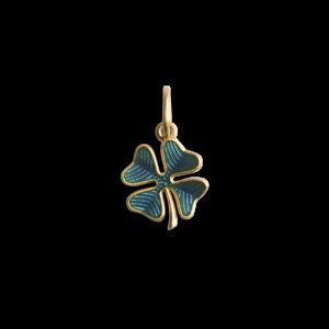 Four-Leaf Clover Pendant with Enamel