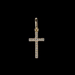 Small Cross Pendant with Diamonds