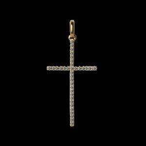 Big Cross Pendant with Diamonds