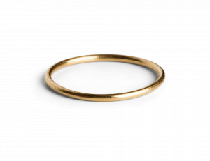 Simple Ring, forgylt sterlingsølv