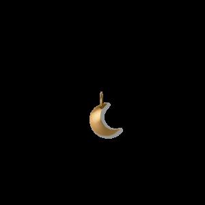 Half Moon pendant for creoles, 18-karat gold