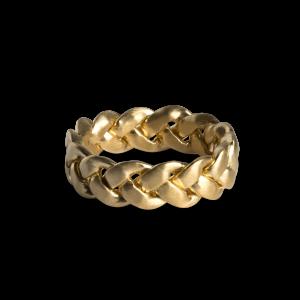 Big Braided Ring, forgylt sterlingsølv
