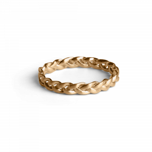 Small Braided Ring, forgylt sterlingsølv