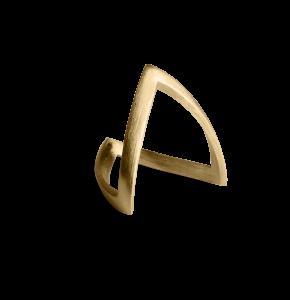 V Ring, forgylt sterlingsølv