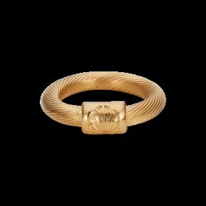 Big Salon Ring, forgylt sterlingsølv