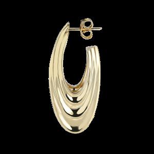 Sculpture Earring, forgylt sterlingsølv