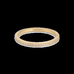 Small alliance ring, 18 karat gull, 0.005 ct diamanter