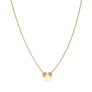 Reflection Heart necklace, forgylt sterlingsølv