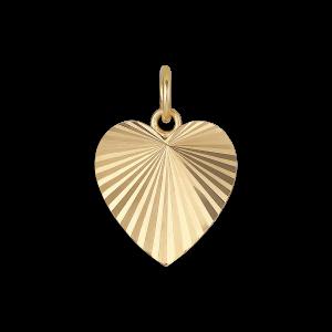 Reflection Heart pendant, forgylt sterlingsølv