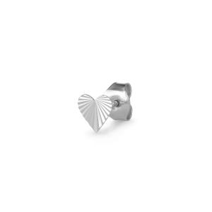 Reflection Heart Stud, sterlingsølv.