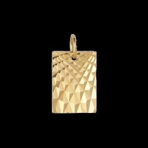 Reflection Square pendant, forgylt sterlingsølv