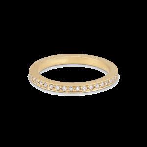 Large alliance ring, 18 karat gull, 0,01 ct diamanter