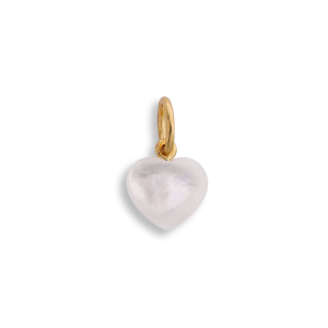 Small Souvenir Heart, anheng, forgylt sterlingsølv