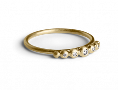 Big Diadem Ring, forgylt sterlingsølv