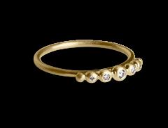 Big Diadem Ring, forgylt sterlingsølv