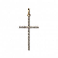 Big Cross Pendant with Diamonds