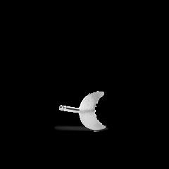 Small Half Moon Stud, sterling silver