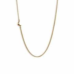 Half Moon Necklace, gold plated sterling silver