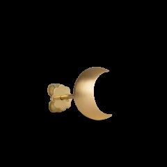 Half Moon Stud Earring, 18-karat gold