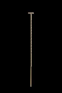 Chain Earring with Diamond Ball Row