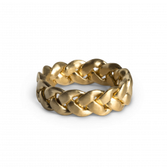 Big Braided Ring, forgylt sterlingsølv