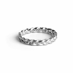 Small Braided Ring, sterlingsølv