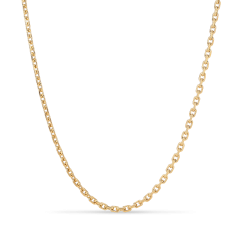 F+E Chain Necklace, forgylt sterlingsølv