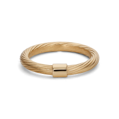 Medium Salon Ring, gold-plated sterling silver