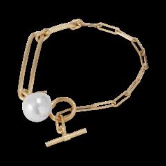 Salon Pearl Armbånd, forgylt sterlingsølv