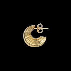Small Sculpture Earring, forgylt sterlingsølv