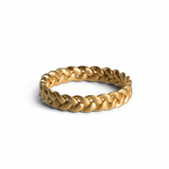 Medium Braided Ring, forgylt sterlingsølv