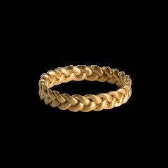 Medium Braided Ring, forgylt sterlingsølv