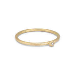 Princess ring, 18-carat gold, 0.02 ct diamant, kulefeste
