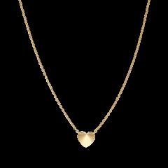 Reflection Heart necklace, forgylt sterlingsølv