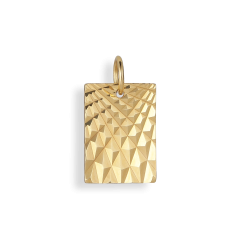 Reflection Square pendant, forgylt sterlingsølv