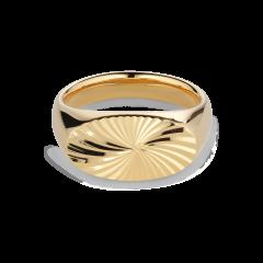 Reflection Signet ring, forgylt sterlingsølv